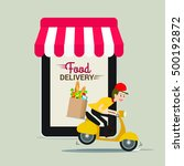 food and fast food delivery... | Shutterstock .eps vector #500192872