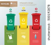 recycle waste bins infographic  ... | Shutterstock .eps vector #500192878