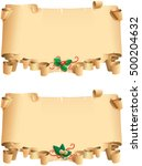two old papers for christmas... | Shutterstock . vector #500204632