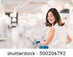 beautiful young asian woman... | Shutterstock . vector #500206792