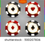 vip poker black and red chip... | Shutterstock .eps vector #500207836