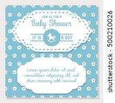 baby shower and newborn baby... | Shutterstock .eps vector #500210026