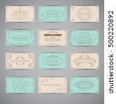 set of vintage luxury greeting... | Shutterstock .eps vector #500220892
