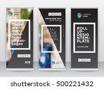 black frame abstract modern... | Shutterstock .eps vector #500221432