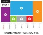 vector calendar january  2017... | Shutterstock .eps vector #500227546