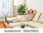 senior man at home. | Shutterstock . vector #500229622