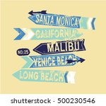 surf illustration   t shirt... | Shutterstock .eps vector #500230546
