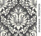 vector damask seamless pattern... | Shutterstock .eps vector #500236426