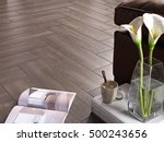 ceramic floor wood style | Shutterstock . vector #500243656