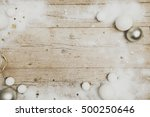 christmassy grey wood... | Shutterstock . vector #500250646