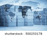 map global logistics...   Shutterstock . vector #500253178