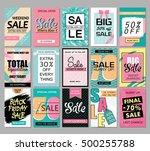 set of social media sale... | Shutterstock .eps vector #500255788