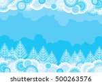 christmas landscape. blue... | Shutterstock . vector #500263576