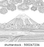 printable coloring page for... | Shutterstock .eps vector #500267236