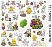 cartoon illustration of easter... | Shutterstock .eps vector #500267782