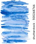 watercolor abstract blue... | Shutterstock . vector #500268766