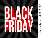 black friday sale poster.... | Shutterstock .eps vector #500271226