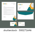 stationery template with... | Shutterstock .eps vector #500271646