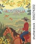 Australian Landscape  Poster.  ...