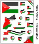 jordan flag set   vector... | Shutterstock .eps vector #500275882