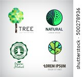set of vector green tree logos. ... | Shutterstock .eps vector #500278936