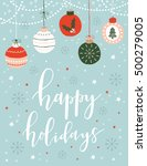 christmas greeting card with...   Shutterstock .eps vector #500279005