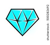 bright diamond icon. vector ... | Shutterstock .eps vector #500282692