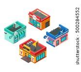 vector isometric buildings set... | Shutterstock .eps vector #500284552