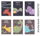 set of beautiful birthday... | Shutterstock .eps vector #500294752