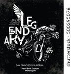 biker  motorcycle vector... | Shutterstock .eps vector #500295076