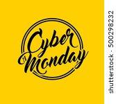 cyber monday sale commerce... | Shutterstock .eps vector #500298232