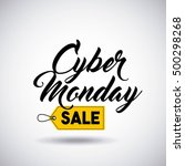 cyber monday sale commerce... | Shutterstock .eps vector #500298268