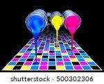 3d rendering of a printing... | Shutterstock . vector #500302306