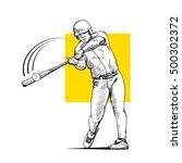 Illustration Of A Baseball...