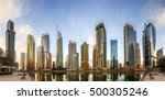 panoramic view of business bay... | Shutterstock . vector #500305246