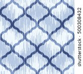 seamless moroccan ikat pattern | Shutterstock .eps vector #500308432
