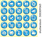 cartoon buttons set game with... | Shutterstock .eps vector #500309365