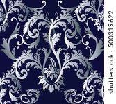 baroque damask medieval floral... | Shutterstock .eps vector #500319622
