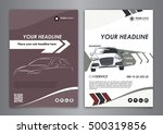 a5  a4 set service car business ... | Shutterstock .eps vector #500319856