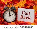 daylight savings time ends ... | Shutterstock . vector #500320435
