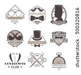 vintage hipster label gentlemen ...   Shutterstock .eps vector #500320816