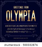 gold metallic font set. letters ... | Shutterstock .eps vector #500332876