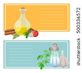 cooking banners. part 2.  cards ... | Shutterstock .eps vector #500336572