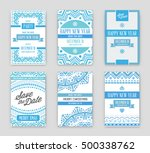 set of vector happy new year or ... | Shutterstock .eps vector #500338762
