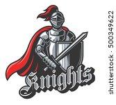 color knight sport logo on... | Shutterstock . vector #500349622