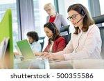 female customer service... | Shutterstock . vector #500355586