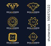 gold diamond and jewellery logo ... | Shutterstock .eps vector #500372122