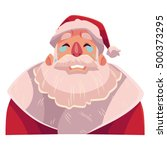 santa claus face   crying... | Shutterstock .eps vector #500373295