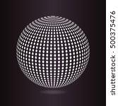 wire frame sphere. vector... | Shutterstock .eps vector #500375476