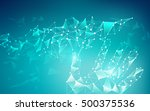 low poly hand touching... | Shutterstock .eps vector #500375536